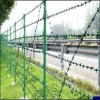 galvanized/pvc coated barbed wire fence