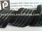 Woven elastic silicone ribbons