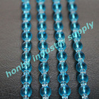 100% distribution blue and clear colors hanging crystal bead pendants
