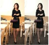 Hot sale lady dress new fashionable high quality with belt
