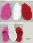 Fashion Cheap Red Ladies Coral Fleece Fabric Winter Comfortable Soft Plush Indoor Slipper With EVA Sole