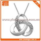 Sterling Silver Diamond Knot Pendant Necklace
