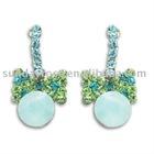 Emerald Bow Colombian Earrings