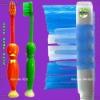 adult toothbrush, cartoon child toothbrush, travel toothbrush