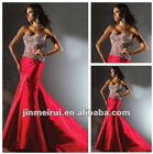 New Arrive Prefered Sweetheart Custom Made Red Taffeta Mermaid Evening Dress Fashion 2012