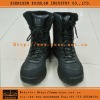 Black Military Combat Leather Boot