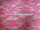 Lace fabric with various designs and colors, 100%poly