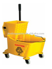 yellow color mop wringer bucket