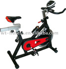 black fitness exercise bike in home