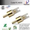 YS-A02G RCA PLUG male plug,rca video,rca pin jack,