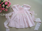 cotton smocking dress