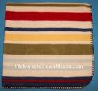Multi Colored Stripes Polyester Fleece Blanket