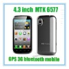 4.3 inch MTK 6577 Phono Built in 3G Bluetooth GPS Mobile phone 4G New product