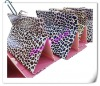 good protector for ipad2 ipad3 luxury leopard PU Plastic stand cover case