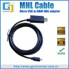 MHL Micro USB to HDMI Adapter samsung galaxy s2 MHL cable hdmi hd tv htc