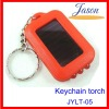 Mini solar LED torch keychain