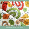 printed linen rayon fabric for garment ,flax fabric,