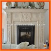 Natural Marble Insert Fireplace With Fireplace Mantle---MSM109