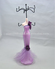 Purple Wedding Dress Jewelry Holder /necklace display busts