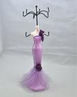 Purple Wedding Dress Jewelry Holder /necklace display busts