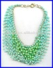 precious 22rows imitation stone beads necklace for wowen