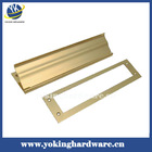 Brass magazine mail slot, mounted in door YK-Z001