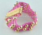 Fashion handmade woven bracelet with magnet connector