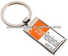 2012 designered metal rectangular keyring with wave-curved backside