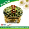 Round shape antique design beautiful jewellery box