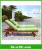 Wooden beach lounge chair