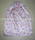 assorted colourful pattern satin fabric materials.shoe bags in single ply