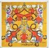 35*35 New fashion square flower bandanas polyester silk scarf