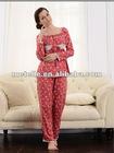 Colorful printing red polyester pajamas