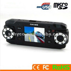 2.0 inch LCD screen G-sensor dual camera car dvr