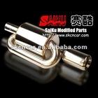 Cars exhaust muffler pipe/Polished Exhaust Muffler