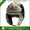 100% Polyester Military Winter Hunting Hat With Imitation Fur inside