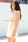 Super cute peach Ladies Eyelet Dress