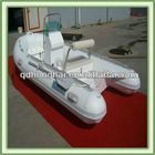 fiberglass floor pvc material boat 520 rib boat