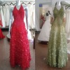 christmas promotion real sample organza evening dress 05068
