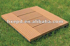 Anti-UV waterproof non-slip interlocking DIY Do It Yourself wood-plastic composite deck tiles decking tile