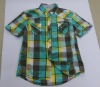 mens summer plaid shirt CD-101, check shirt, lattice shirt, cotton short sleeve shirt