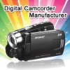 HD 720P digital camcorder with 3.0 inch screen and external memory extension up to 8GB