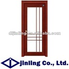 Solid Wood Modern Interior Doors with Steel Door Grill Design