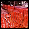 orange plastic security fence