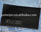 Black jeans leather label