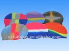 Adult unisex silicone rubber swimming cap