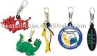 Absorbing PVC zipper pull charms,pvc zipper pull,zipper puller