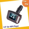 "Free shipping car mp4 player--- 1.8"" LCD Wireless Car MP4 MP3 Player FM Transmitter SD MMC USB Black"