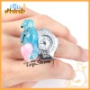 D01193o Hot! animal frog pig apple star Candy color quartz colorful ring watch style