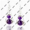 fashion jewelry amethyst earring 8mm/10mm beads